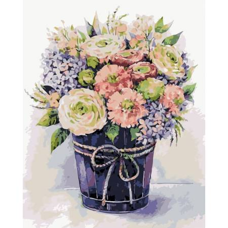 Картина по номерам «Букет нежных цветов», модель AS0120