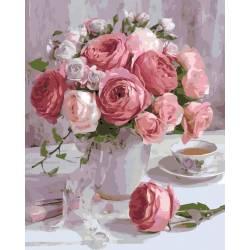 Розы в пастельных тонах