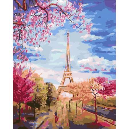 Картина по номерам Весеннее небо Парижа AS0137, ArtStory