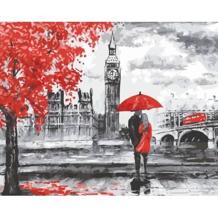 Картина по номерам «Прогулки Лондоном», модель AS0145