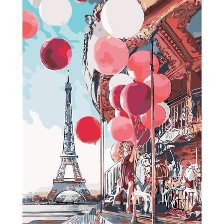Картина по номерам «Парижская карусель», модель AS0148