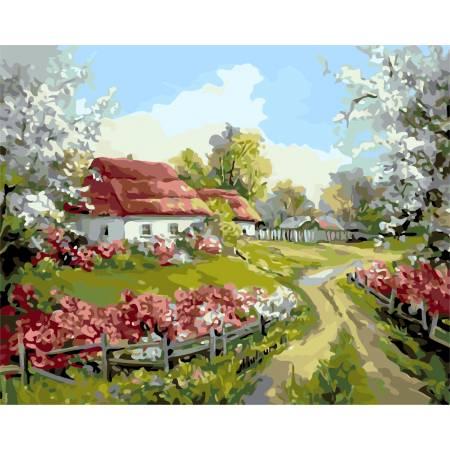 Картина по номерам Родное село AS0156, ArtStory