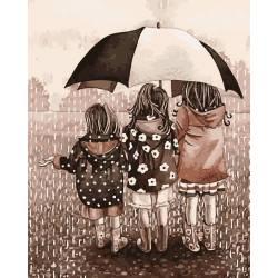 Друзья под зонтом