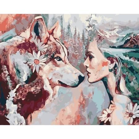 Картина по номерам Душа волка AS0189, ArtStory