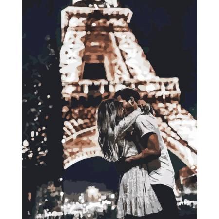 Картина по номерам «Свидание в Париже», модель AS0190