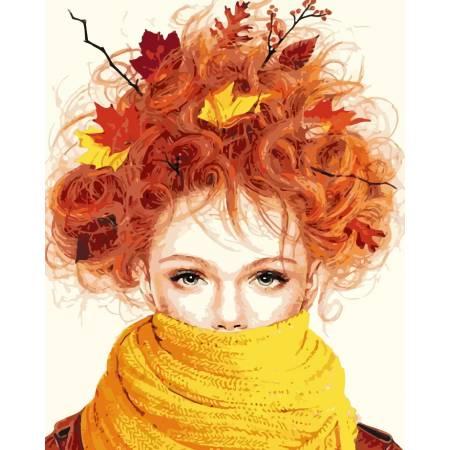 Картина по номерам «Девушка - осень», модель AS0195