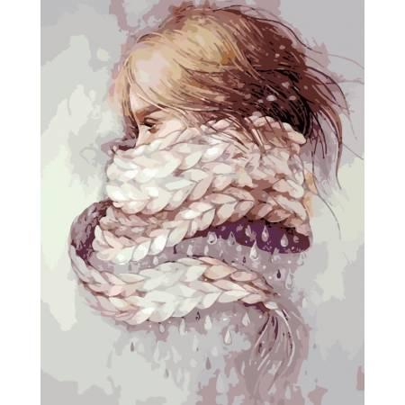Картина по номерам «Девушка - зима», модель AS0196