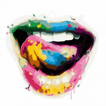 Картина по номерам «Игривая улыбка - Без Коробки», модель AS0235
