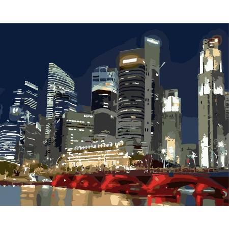 Картина по номерам Ночные огни города AS0257, ArtStory