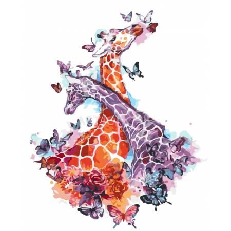 Картина по номерам «Влюбленные жирафы», модель AS0269