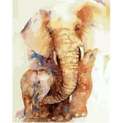 Слоненок с мамой