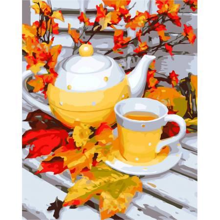 Картина по номерам «Осеннее чаепитие», модель AS0299