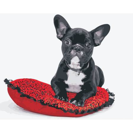 Картина по номерам «Милая собачка», модель AS0419