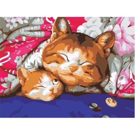 Картина по номерам «Семейный сон», модель AS0475