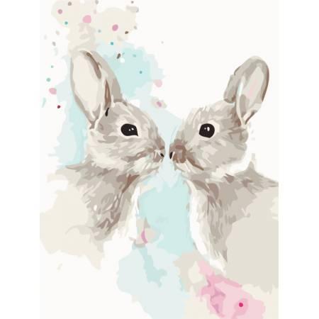 Картина по номерам «Цветные кролики», модель AS0481