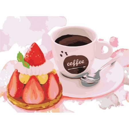 Картина по номерам «Клубничный десерт», модель AS0490