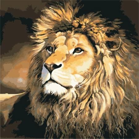 Картина по номерам «Гордый лев», модель AS0497