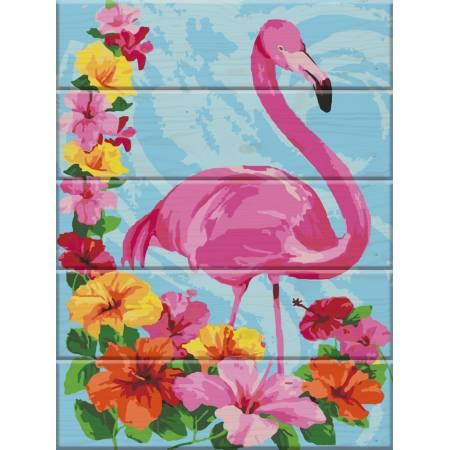 """Картина по номерам Картина по номерам на дереве """"Фламинго"""" (ASW014), ArtStory"""