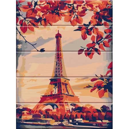 """Картина по номерам Картина по номерам на дереве """"Париж"""" (ASW023), ArtStory"""