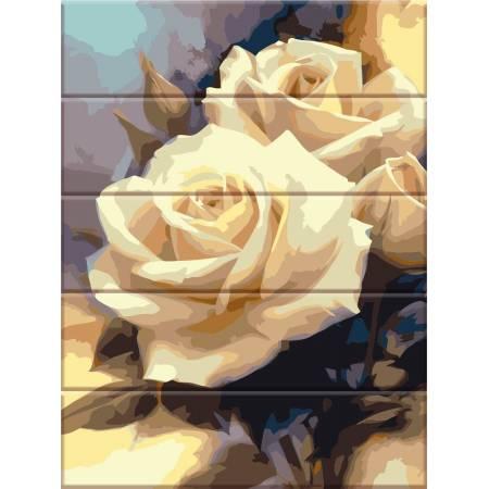 """Картина по номерам На дереве """"Пастельные розы"""" ASW043, ArtStory"""