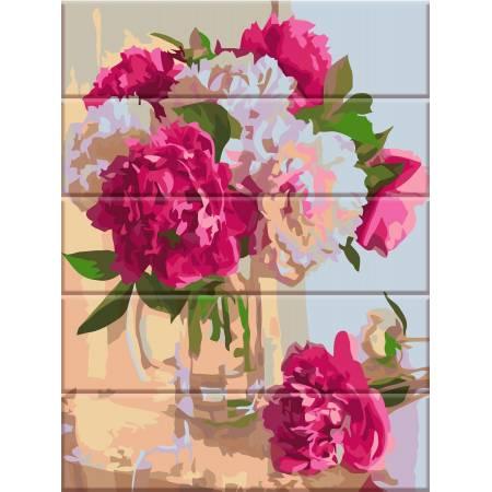 """Картина по номерам На дереве """"Нежный аромат пионов"""" ASW048, ArtStory"""