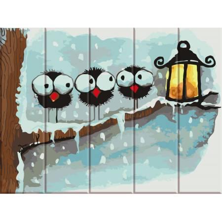 "Картина по номерам На дереве ""Зимние птички"" ASW058, ArtStory"