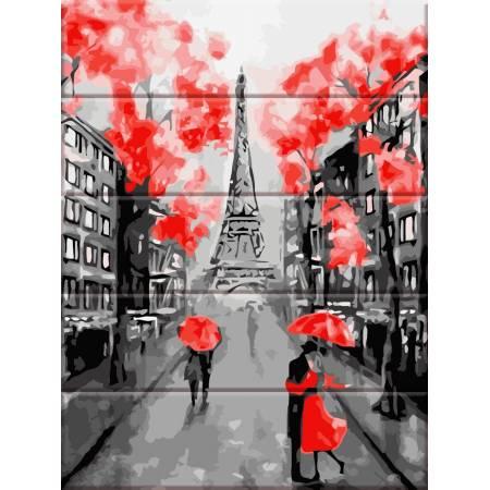 "Картина по номерам На дереве ""Улицы Парижа"" ASW064, ArtStory"