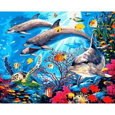 Картина по номерам Подводный мир Q2146, Mariposa