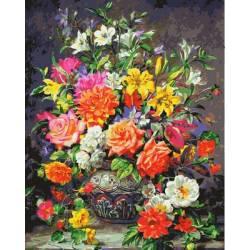 Красочный букет роз