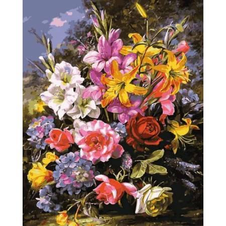 Картина по номерам Шикарный букет роз и лилий Q2149, Mariposa