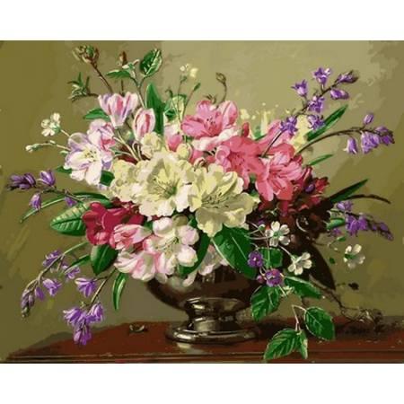 Картина по номерам Букет в серебряной вазе Q2161, Mariposa
