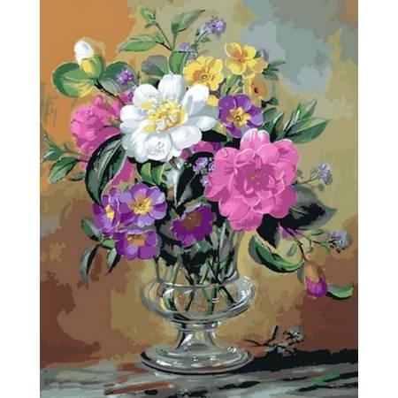 Картина по номерам Розы и анютины глазки Q2162, Mariposa