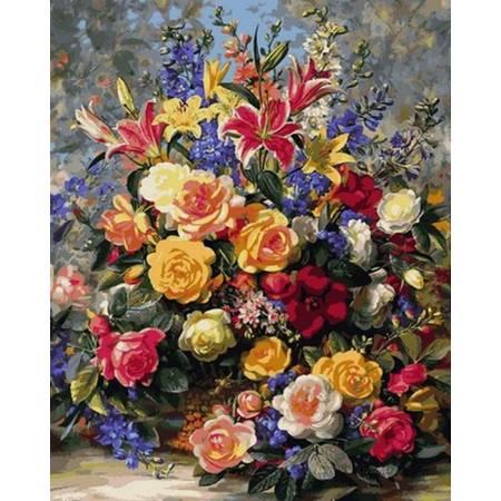 Картина по номерам Роскошный букет роз Q2165, Mariposa