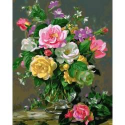 Три оттенка роз