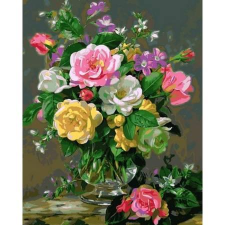Картина по номерам Три оттенка роз Q2167, Mariposa
