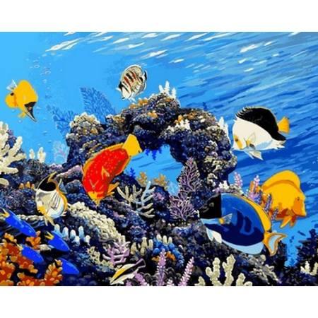 Картина по номерам Коралловый риф Q2177, Mariposa