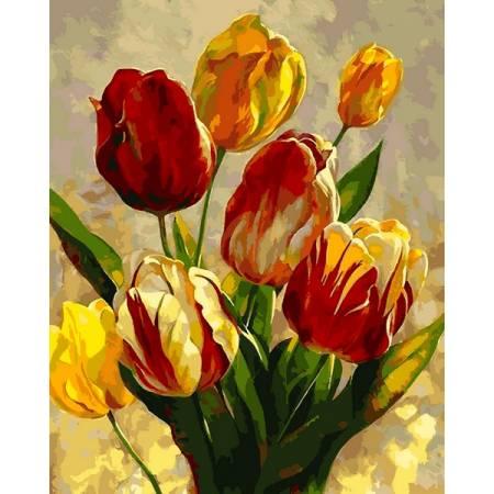 Картина по номерам «Прекрасные тюльпаны», модель Q2182