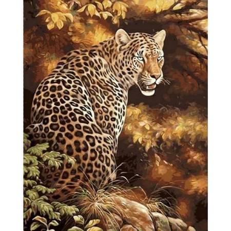 Картина по номерам Леопард в лесу Q496, Mariposa