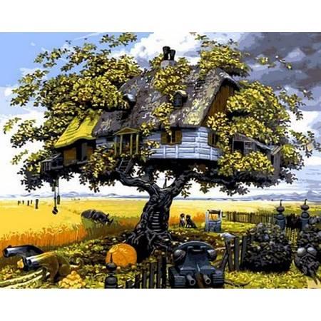 Картина по номерам Домик на дереве Q544, Mariposa