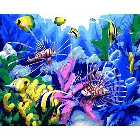 Картина по номерам Тропический аквариум Q616, Mariposa