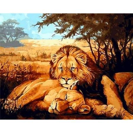 Картина по номерам Львы на отдыхе Q936, Mariposa