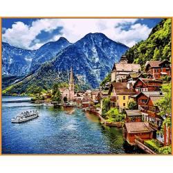 Летняя Австрия, цветной холст