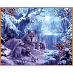 Волчья зима, цветной холст