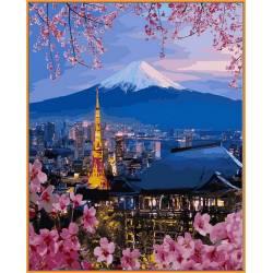 Путешествие по Японии, цветной холст