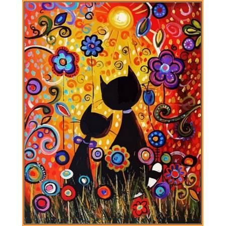 Картина по номерам Магические краски,, цветной холст NB624R, Babylon Premium