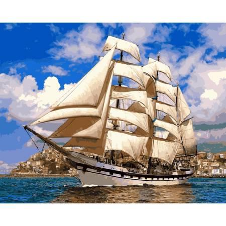 Картина по номерам Попутный ветер,, цветной холст NB899, Babylon Premium