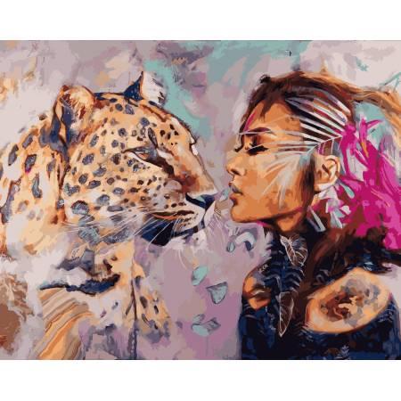 Картина по номерам Душа кошки,, цветной холст NB968, Babylon Premium