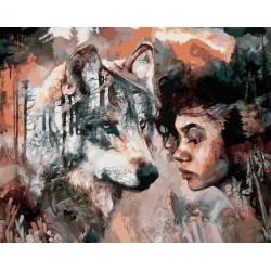 Душа волка, цветной холст