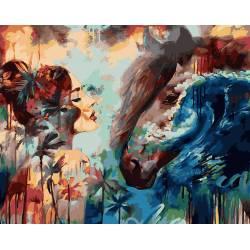 Брызги океана, цветной холст