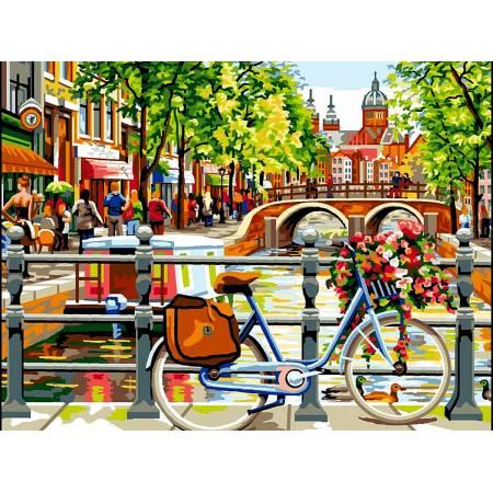Картина по номерам Амстердам на берегу канала vk051, Babylon